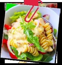 Pastasallad med kyckling (パスタサラッド・メ・シュクリング)