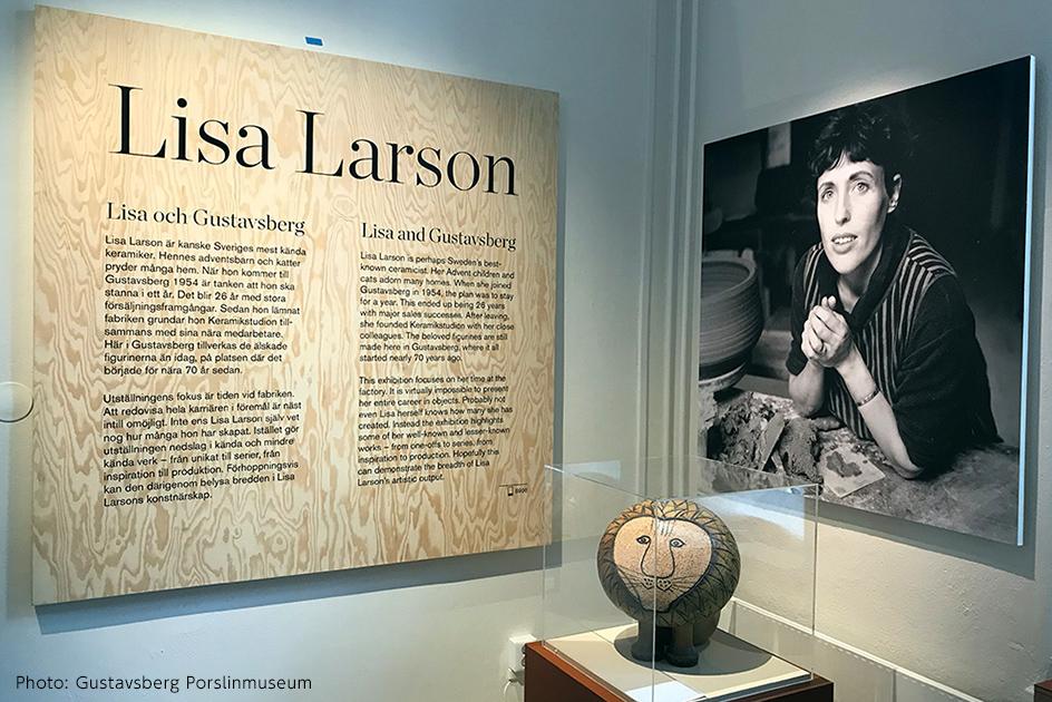 2.リサ・ラーソン展の入り口